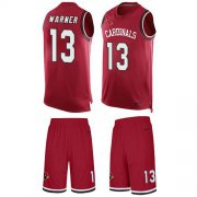 Wholesale Cheap Nike Cardinals #13 Kurt Warner Red Team Color Men's Stitched NFL Limited Tank Top Suit Jersey