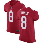 Wholesale Cheap Nike Giants #8 Daniel Jones Red Alternate Men's Stitched NFL Vapor Untouchable Elite Jersey