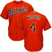 Wholesale Cheap Orioles #4 Earl Weaver Orange Team Logo Fashion Stitched MLB Jersey