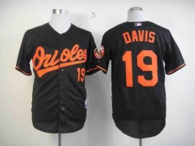 Wholesale Cheap Orioles #19 Chris Davis Black Cool Base Stitched MLB Jersey