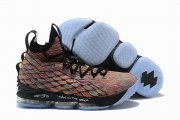 Wholesale Cheap Nike Lebron James 15 Air Cushion Shoes Colors Black