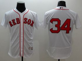 Wholesale Cheap Red Sox #34 David Ortiz White Flexbase Authentic Collection Stitched MLB Jersey
