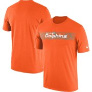 Wholesale Cheap Miami Dolphins Nike Sideline Seismic Legend Performance T-Shirt Orange