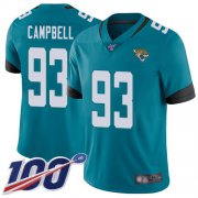 Wholesale Cheap Nike Jaguars #93 Calais Campbell Teal Green Alternate Men's Stitched NFL 100th Season Vapor Limited Jersey