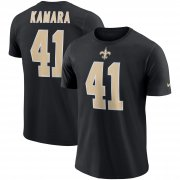 Wholesale Cheap New Orleans Saints #41 Alvin Kamara Nike Player Pride Name & Number Performance T-Shirt Black