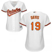 Wholesale Cheap Orioles #19 Chris Davis White Home Women's Stitched MLB Jersey