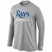 Wholesale Cheap Tampa Bay Rays Long Sleeve MLB T-Shirt Grey