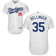Wholesale Cheap Dodgers #35 Cody Bellinger White Flexbase Authentic Collection Stitched MLB Jersey