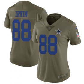 Wholesale Cheap Nike Cowboys #88 Michael Irvin Olive Women\'s Stitched NFL Limited 2017 Salute to Service Jersey