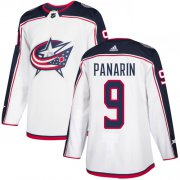 Wholesale Cheap Adidas Blue Jackets #9 Artemi Panarin White Road Authentic Stitched Youth NHL Jersey