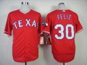 Wholesale Cheap Rangers #30 Naftali Feliz Stitched MLB Red Cool Base Jersey