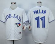 Wholesale Cheap Blue Jays #11 Kevin Pillar White Cool Base Stitched MLB Jersey