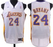 Wholesale Cheap Los Angeles Lakers #24 Kobe Bryant White Swingman Jersey