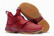 Wholesale Cheap Nike Lebron James Soldier 12 Shoes All Wine Red