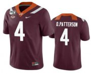 Wholesale Cheap Men's Virginia Tech Hokies #4 Quincy Patterson II Maroon 150th College Football Nike Jersey