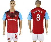 Wholesale Cheap West Ham United #8 Kouyate Home Soccer Club Jersey