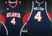 Wholesale Cheap Atlanta Hawks #4 Paul Millsap Revolution 30 Swingman 2014 New Navy Blue Jersey