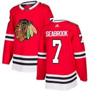 Wholesale Cheap Adidas Blackhawks #7 Brent Seabrook Red Home Authentic Stitched NHL Jersey