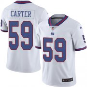 Wholesale Cheap Nike Giants #59 Lorenzo Carter White Men's Stitched NFL Limited Rush Jersey