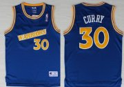 Wholesale Cheap Golden State Warriors #30 Stephen Curry 1988-89 Blue Swingman Throwback Jersey