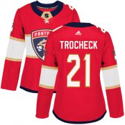 Wholesale Cheap Adidas Panthers #21 Vincent Trocheck Red Home Authentic Women's Stitched NHL Jersey