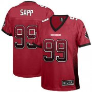 Wholesale Cheap Nike Buccaneers #99 Warren Sapp Red Team Color Women's Stitched NFL Elite Drift Fashion Jersey