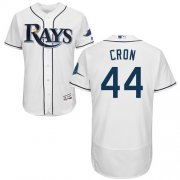 Wholesale Cheap Rays #44 CJ Cron White Flexbase Authentic Collection Stitched MLB Jersey