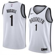 Wholesale Cheap NBA Brooklyn Nets #1 Dangelo Russell Jersey 2017-18 New Season White Jerseys