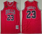 Wholesale Cheap Men's Chicago Bulls #23 Michael Jordan 1997-98 Red Final Patch Hardwood Classics Soul Swingman Throwback Jersey