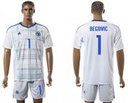 Wholesale Cheap Bosnia Herzegovina #1 Begovic Away Soccer Country Jersey