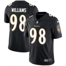 Wholesale Cheap Nike Ravens #98 Brandon Williams Black Alternate Youth Stitched NFL Vapor Untouchable Limited Jersey