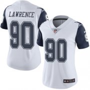Wholesale Cheap Nike Cowboys #90 Demarcus Lawrence White Women's Stitched NFL Limited Rush Jersey