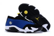 Wholesale Cheap Womens Air Jordan 14 laney Real blue/black-white