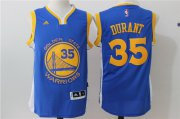 Wholesale Cheap Men's Golden State Warriors Kevin Durant Royal Blue Revolution 30 Swingman #35 Player adidas Road Jersey