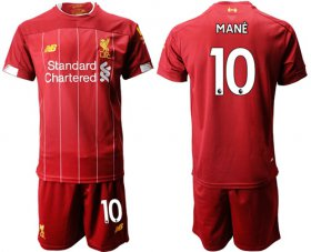 Wholesale Cheap Liverpool #10 Mane Red Home Soccer Club Jersey