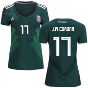 Wholesale Cheap Women's Mexico #17 J.M.Corona Home Soccer Country Jersey