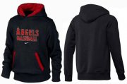 Wholesale Cheap Los Angeles Angels Pullover Hoodie Black & Red