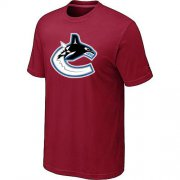 Wholesale Cheap Vancouver Canucks Big & Tall Logo Red NHL T-Shirt