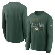 Wholesale Cheap Green Bay Packers Nike Icon Legend Performance Long Sleeve T-Shirt Green