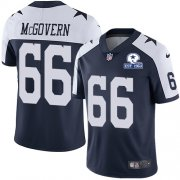Wholesale Cheap Nike Cowboys #66 Connor McGovern Navy Blue Thanksgiving Men's Stitched With Established In 1960 Patch NFL Vapor Untouchable Limited Throwback Jersey