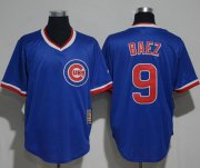 Wholesale Cheap Cubs #9 Javier Baez Blue Cooperstown Stitched MLB Jersey