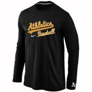 Wholesale Cheap Oakland Athletics Long Sleeve MLB T-Shirt Black
