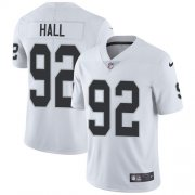 Wholesale Cheap Nike Raiders #92 P.J. Hall White Men's Stitched NFL Vapor Untouchable Limited Jersey