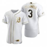 Wholesale Cheap Detroit Tigers #3 Alan Trammell White Nike Men's Authentic Golden Edition MLB Jersey