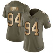 Wholesale Cheap Nike Bears #94 Robert Quinn Olive/Gold Women's Stitched NFL Limited 2017 Salute To Service Jersey