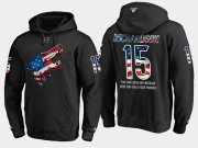 Wholesale Cheap Coyotes #15 Brad Richardson NHL Banner Wave Usa Flag Black Hoodie