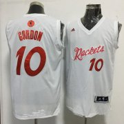 Wholesale Cheap Men's Houston Rockets #10 Eric Gordon adidas White 2016 Christmas Day Stitched NBA Swingman Jersey