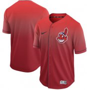 Wholesale Cheap Nike Indians Blank Red Fade Authentic Stitched MLB Jersey