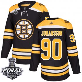 Wholesale Cheap Adidas Bruins #90 Marcus Johansson Black Home Authentic 2019 Stanley Cup Final Stitched NHL Jersey