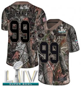 Wholesale Cheap Nike 49ers #99 DeForest Buckner Camo Super Bowl LIV 2020 Men\'s Stitched NFL Limited Rush Realtree Jersey